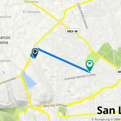 De Anillo Periférico, San Luis Potosí a Oyameles 156, San Luis Potosí