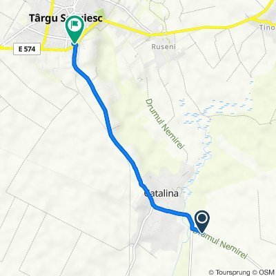 Route to Strada Gării, Târgu Secuiesc