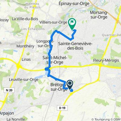 De 30 Rue Clément Ader, Brétigny-sur-Orge à 62 Avenue Paul Vaillant-Couturier, Sainte-Geneviève-des-Bois