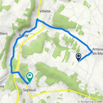 Itinéraire vers 16bis Rue de Poltain, Septeuil