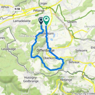Itinéraire vers Rue Jos Lommel 85, Differdange