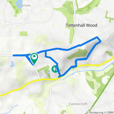 17 Tinacre Hill, Wolverhampton to 15 Tinacre Hill, Wolverhampton