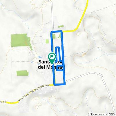 De Avd. Principal, Santa Rosa del Monday a Avd. Principal, Santa Rosa del Monday