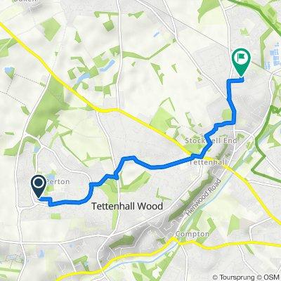 27 Canterbury Dr, Wolverhampton to 2–20 Macrome Road, Aldersley, Tettenhall, Wolverhampton