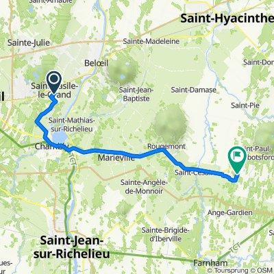 544 Ch St-Louis, St-Basile-le-Grand to 375 Rue du Parc, St-Paul-d'Abbotsford