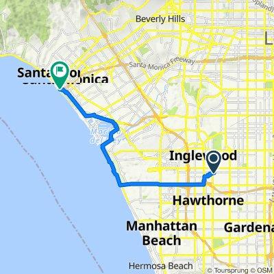 West 105th Street 3900, Inglewood to Colorado Avenue 15, Santa Monica