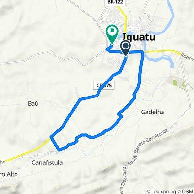 De Rua Manoel Castelo Branco, Iguatu a Rua B, 228, Iguatu