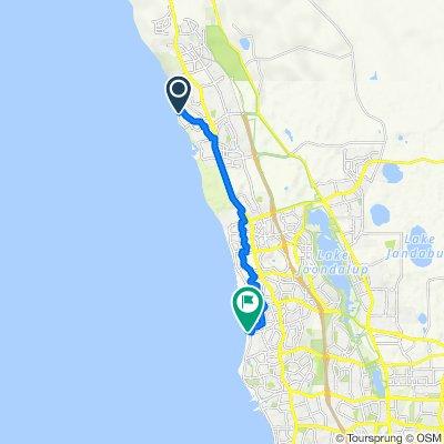 42 Graham Road, Quinns Rocks to 10 Oceanside Promenade, Mullaloo