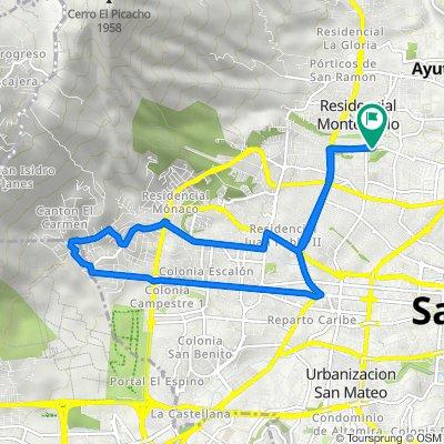 De Complejo Deportivo Colonia Satellite, San Salvador a Complejo Deportivo Colonia Satellite, San Salvador