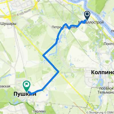 От Садовая улица 2, Санкт-Петербург до Ленинградская улица 4, Санкт-Петербург