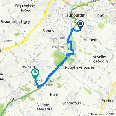De 50 Rue de la Canteraine, Haubourdin à Chemin de la Cornette, Wavrin