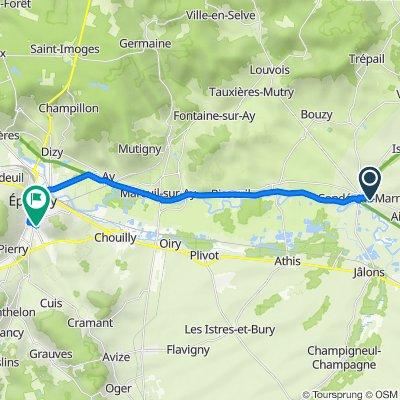 Itinéraire à partir de 2 Rue du Mont de Marne, Condé-sur-Marne
