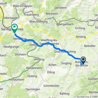 Itinéraire à partir de 35 Rue Pasteur, Rohrbach-lès-Bitche