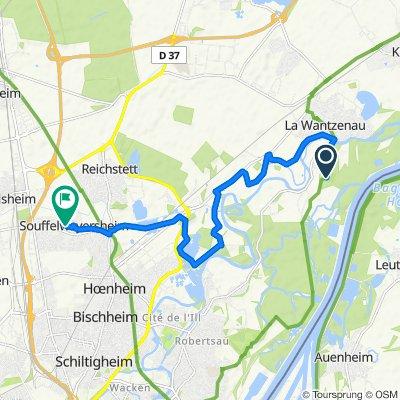 Itinéraire vers 1 Rue des Tonneliers, Souffelweyersheim