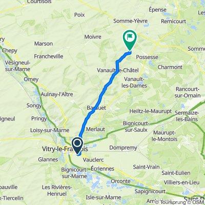 De 7 Rue des Érables, Marolles à 6 Rue du Moulin, Bussy-le-Repos