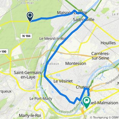 De D308, Saint-Germain-en-Laye à Résidence Napoléon Bonaparte, Rueil-Malmaison