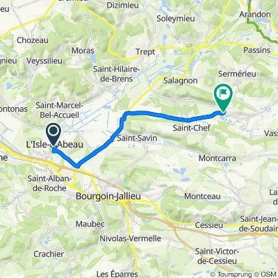 Rue des Treilles 13, L'Isle-d'Abeau to Route des Vignes 4270, Saint-Chef