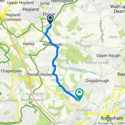 Wentworth Road 20, Elsecar to Hutton Road 25