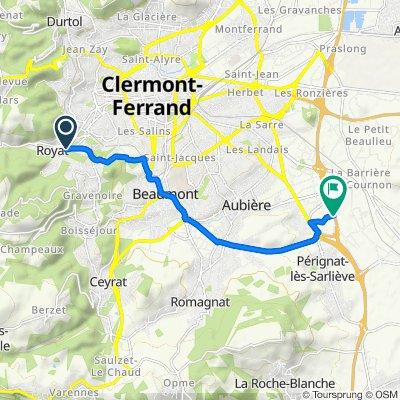 De 15–19 Rue du Monteix, Royat à La Méridienne, Aubiere