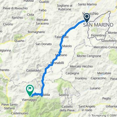 Da Via Fabrizio da Montebello 5, Acquaviva a Località Svolta del Podere 13, Badia Tedalda