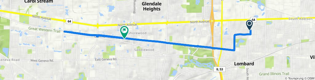 North Main Street 547, Lombard to Pine Drive 23W567, Carol Stream