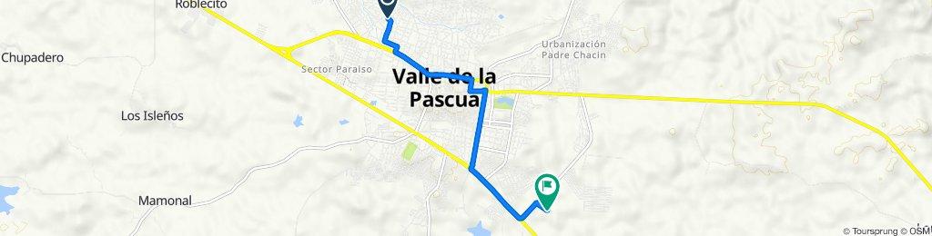 De Calle Las Americas, Valle de la Pascua a Carretera El Desvio, Valle de la Pascua