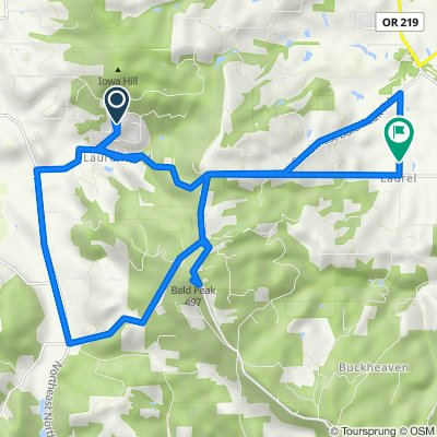 Ride from home to Bald Peak State Park
