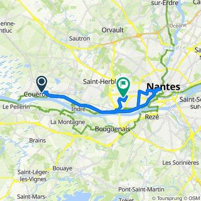 De Boulevard des Martyrs de la Resistance 3, Couëron à Rue Yves Kartel 2, Nantes