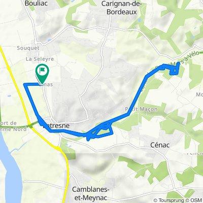 De 3 Allée Clemenceau, Latresne à 60 Route de Bordeaux, Latresne