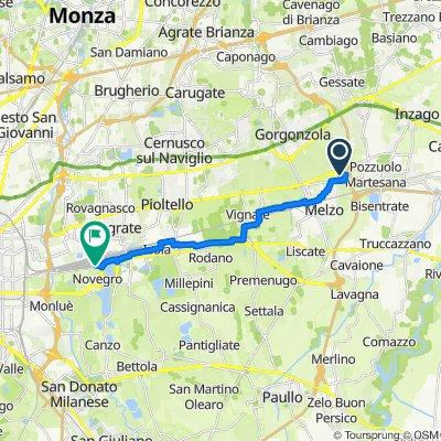 Via delle Industrie 1, Pozzuolo Martesana to Via Dante Alighieri 5, Novegro-Tregarezzo