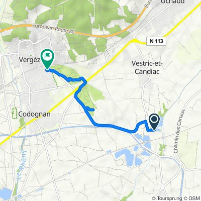 Itinéraire vers 26 Impasse des Oeillades, Vergèze