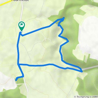 De 93 Route de la Croisée, Fourmetot à 93 Route de la Croisée, Fourmetot
