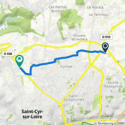 De 26 Rue Georges Méliès, Tours à 248 Boulevard Charles de Gaulle, Saint-Cyr-sur-Loire