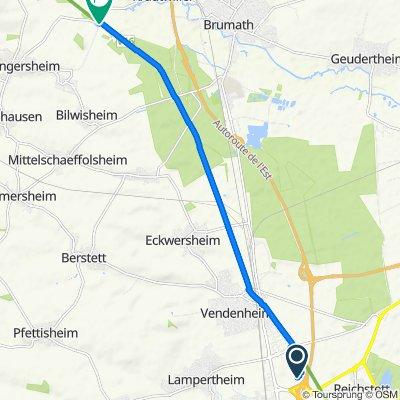 Ruta a D58, Wingersheim
