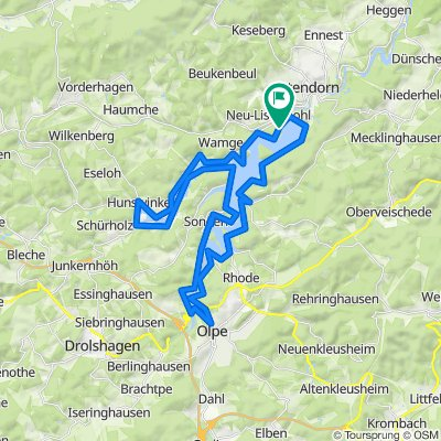Planung Bigge-Lister-Seenroute