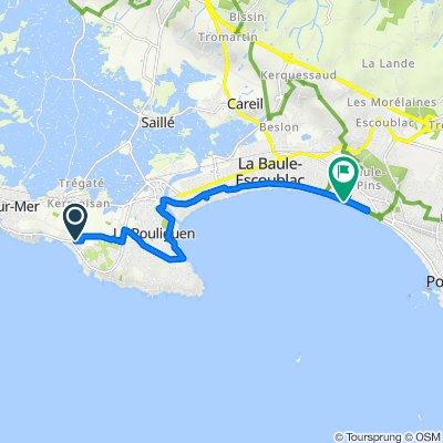 De 9 Chemin du Pré de la Falaise, Batz-sur-Mer à Boulevard de l'Océan, La Baule-Escoublac
