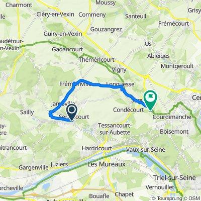 Itinéraire vers 15 Rue du Charne, Sagy