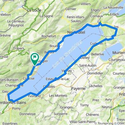 Tour du Lac de Neuchatel via Fresens