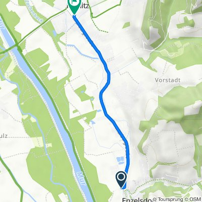 Am Teichweg 1, Enzelsdorf nach Erzherzog-Johann-Platz 4–8, Fernitz