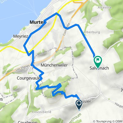 Route de la Poya 40, Cressier nach Hauptstrasse 98, Murten