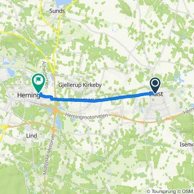 Vestergade, Ikast to Sjællandsgade 55C, Herning