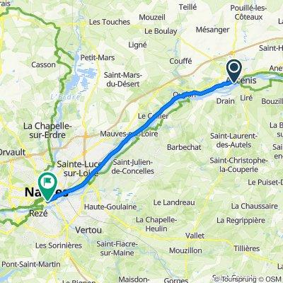 De Île Mouchet, Ancenis à 2 Rue Conan Mériadec, Nantes