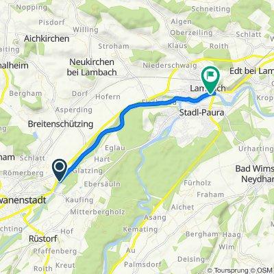 Route nach Badgasse 5, Lambach