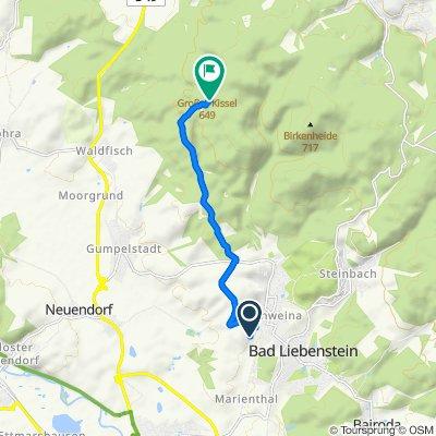 Schweina nach Forsthaus, Moorgrund