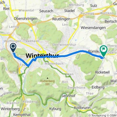 Schlossmühlestrasse 116, Winterthur nach Schlatterstrasse 9, Elsau