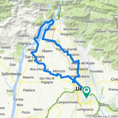 Udine-Osoppo-Cornino-SanDaniele-Fagagna