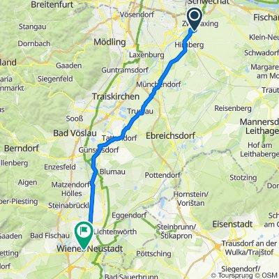 Franz-Andre-Straße 34, Pellendorf nach Ferdinand-Porsche-Ring, Wiener Neustadt