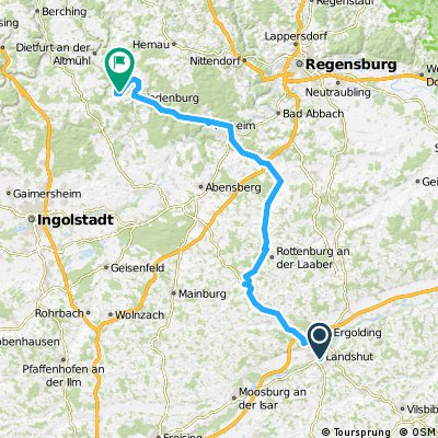 1984 - Salzburg - Schwanewede - 03. Tag: Landshut - Obereggernberg