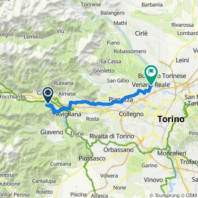 Da Via alla Sagra 14, Sant'Ambrogio di Torino a Piazza della Annunziata 5/C, Venaria Reale