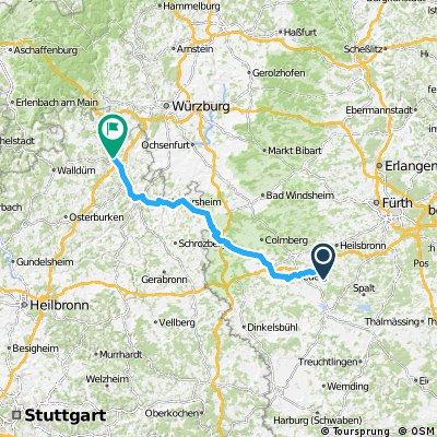 1984 - Salzburg - Schwanewede - 06. Tag: Wolframs-Eschenbach - Tauberbischofsheim